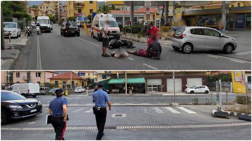 Incidente ad Arma di Taggia: scontro tra un'auto e uno scooter sull'Aurelia
