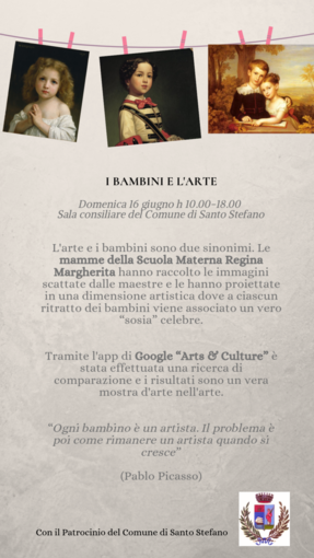 """Santo Stefano al Mare: """"I bambini e l'arte"""" la mostra fotografica dove ogni bimbo ha un sosia artistico"""