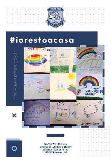 #iorestoacasa. Sanremo Rugby, i disegni dei bambini dl sodalizio matuziano
