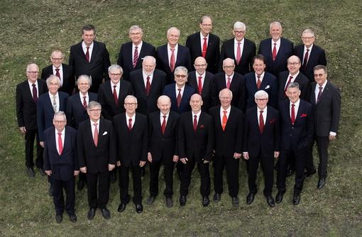 Il coro maschile polifonico di Stoccolma Stockholms Manskör alla ex-chiesa Santa Brigida di Sanremo