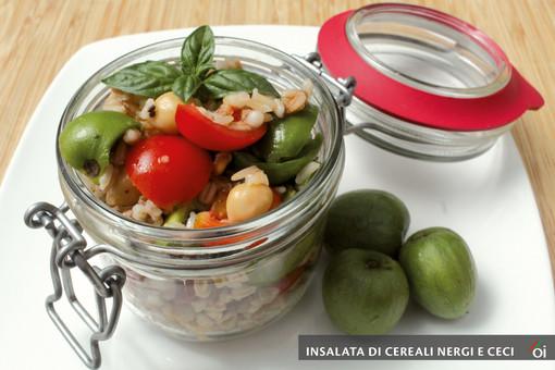 I mercoledìVeg di Ortofruit. Oggi prepariamo insalata di cereali, nergi e ceci