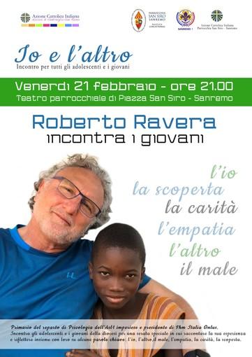 Sanremo: venerdì Roberto Ravera protagonista all'incontro per giovani 'Io e l'altro'