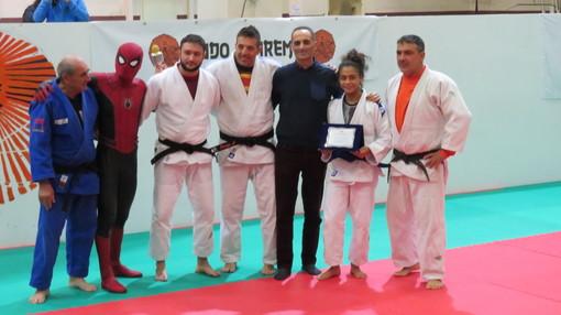 Il Presidente del Consiglio comunale Alessandro Il Grande alla festa di fine anno del CSD Judo Sanremo