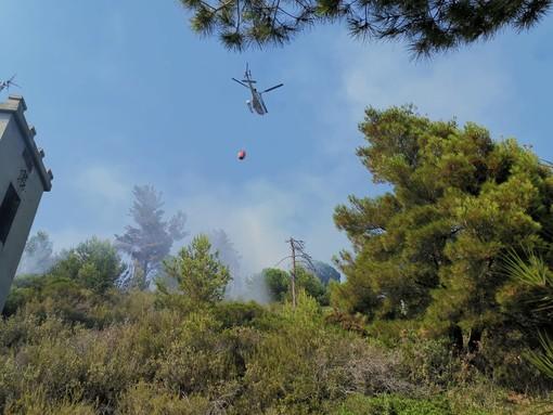 Bordighera, è doloso l'incendio divampato in località Montenero. Fermati dalla polizia municipale alcuni giovani. Si attende l'esito delle immagini delle telecamere (Foto e video)