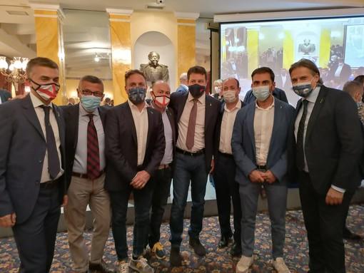 A Roma la riunione dei neoeletti consiglieri regionali della Lega con Matteo Salvini: presente l'imperiese Alessandro Piana