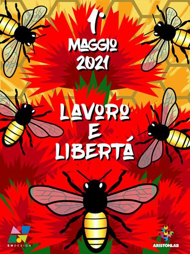 Sanremo: un video di motion graphic all'ingresso dell'Ariston per celebrare la Festa del 1° Maggio
