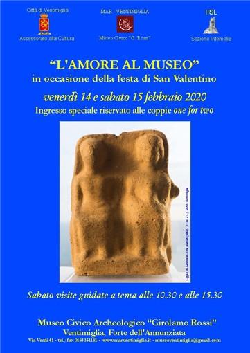 """Un fine settimana all'insegna dell'amore al Museo Archeologico """"Rossi"""" di Ventimiglia"""