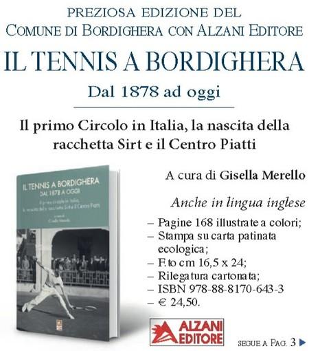 """Giovedì la presentazione de """"Il Tennis a Bordighera dal 1878 ad oggi"""" al salone internazionale del libro di Torino"""