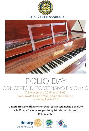 Sanremo: lotta alla poliomielite, il Rotary organizza concerto per beneficenza a novembre
