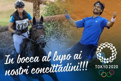 Iniziano le Olimpiadi a Tokyo: l'in bocca al lupo del Sindaco Conio ad Arianna Schivo e Fabio Fognini