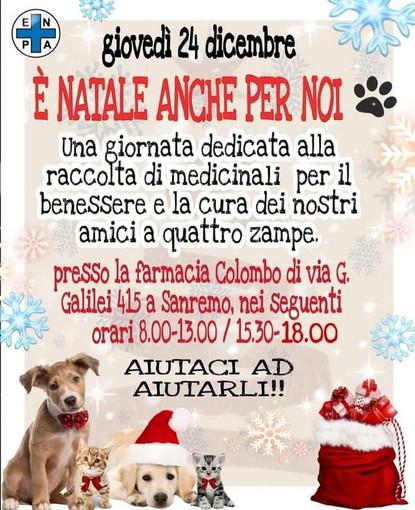 Sanremo: la vigilia di Natale presso la Farmacia Colombo raccolta medicinali per il Rifugio Enpa