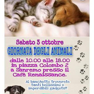 Sanremo: domani banchetto del'Enpa in occasione della giornata degli animali