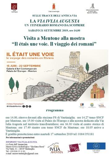 Ventimiglia: il Museo Civico Rossi aderisce alle Giornate Europee del Patrimonio, sabato 21 escursione a Mentone