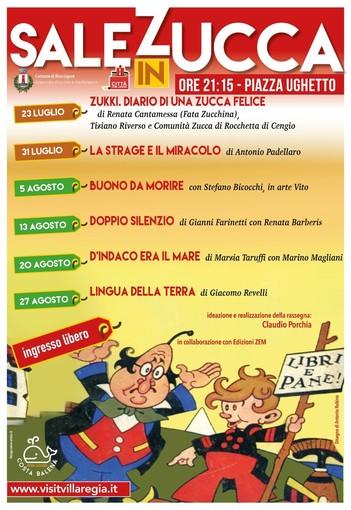 """Riva Ligure: giovedì 23 luglio al via la sesta edizione della rassegna letteraria """"Sale in Zucca"""""""