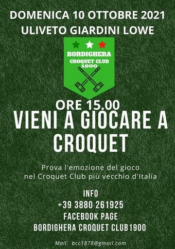 Bordighera, domani Open day di Croquet: ritorna sulla scena l'antico club fondato nel 1900 (foto)