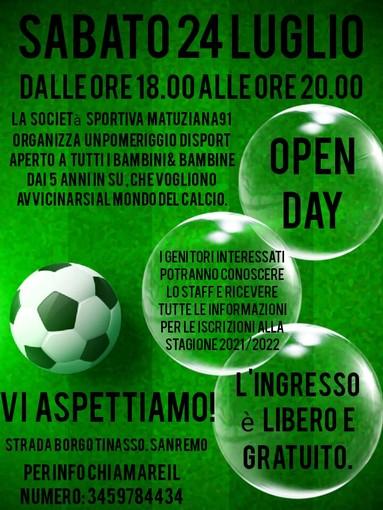 """Calcio giovanile: sabato Open Day con la Matuziana, """"Un momento educativo e sociale"""""""