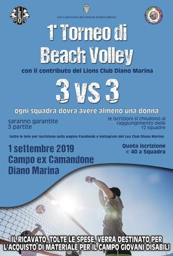 Diano Marina: domenica torneo di beach volley di beneficenza organizzato dal Leo Club