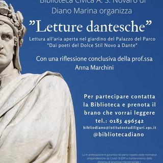 Diano Marina: 'Letture Dantesche' alla Biblioteca Civica 'Angiolo Silvio Novaro' de iIl Maggio dei Libri'