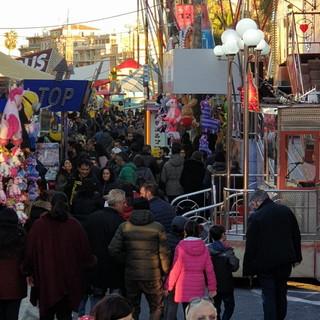 Sanremo: notevole afflusso di pubblico per l'ultimo weekend del luna park