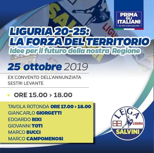 """Regionali, """"Liguria 20-25 la forza del territorio"""": venerdì a Sestri Levante il primo Workshop con 250 stakeholders e amministratori locali"""