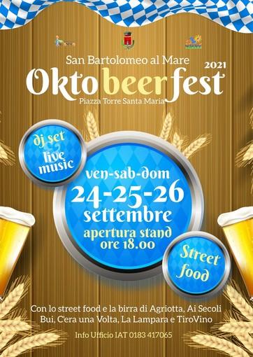 San Bartolomeo al Mare festeggia l'arrivo dell'autunno con l'Oktobeerfest: tre giorni di intrattenimento dedicati alla birra bavarese e non solo