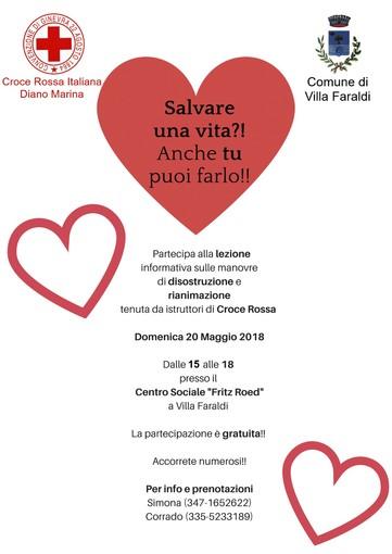 Villa Faraldi: domenica la Croce Rossa di Diano Marina terrà un corso di disostruzione pediatrica e per adulto
