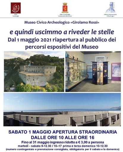 """Ventimiglia, domani riapre il museo archeologico 'Rossi': """"La bellezza e la cultura ci salveranno"""" (foto)"""