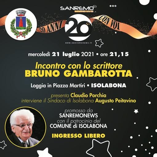 Per i 20 anni di Sanremonews: questa sera l'incontro con Bruno Gambarotta a Isolabona