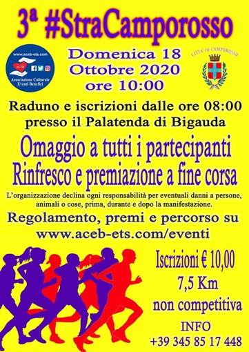 Rinviata al 18 ottobre la 'Stracamporosso', tutto il ricavato devoluto al fondo di solidarietà del comune di Ventimiglia