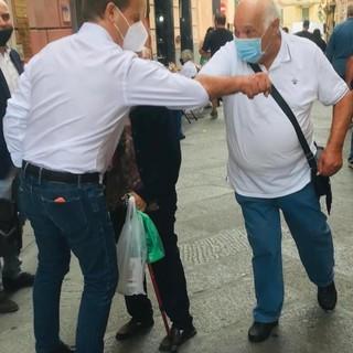 Finite le elezioni, Marco Scajola a Sanremo e a Imperia subito tra la gente