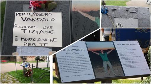 """Sanremo: rimosse le targhe in ricordo di Tiziano Chierotti, ora c'è solo un biglietto del padre """"Per il povero vandalo, ricordati che è morto anche per te"""""""