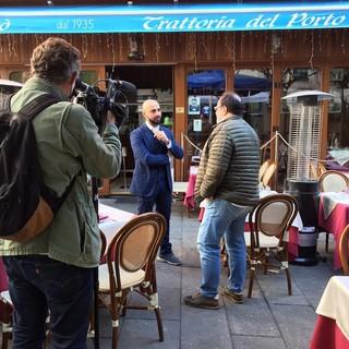La tv francese Métropole 6 con CNA per intervistare le attività di Sanremo sull'obbligo di green pass