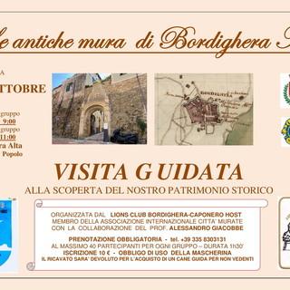 Domenica prossima a Bordighera, visita guidata nella città alta a cura del Lions Club Bordighera Capo Nero Host