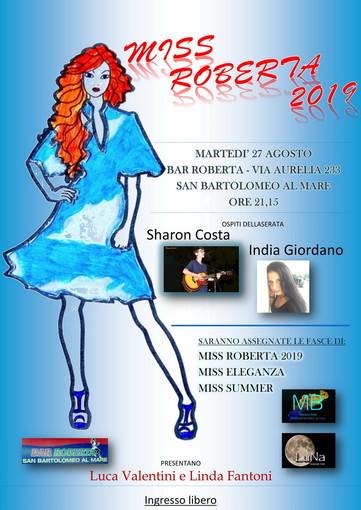 San Bartolomeo al Mare: martedì prossimo, appuntamento con la prima edizione del nuovissimo concorso 'Miss Roberta'