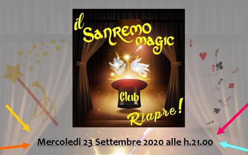 Dopodomani, riapre 'Sanremo Magic Club' con l'illusionista e conduttore televisivo Marco Berry
