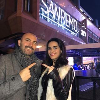 In collegamento anche l'influencer Ilaria Salerno (nella foto con Federico Marchi durante il Festival 2020)