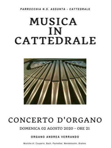 Ventimiglia: domani, concerto dell'organista Andrea Verrando nella Cattedrale