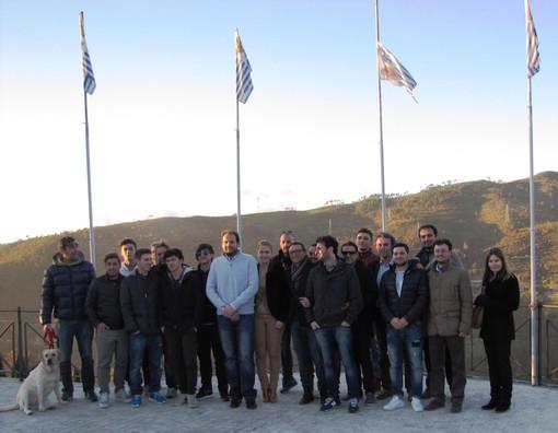 Seborga: visita ufficiale della nazionale calcistica del principato al cospetto di Marcello I