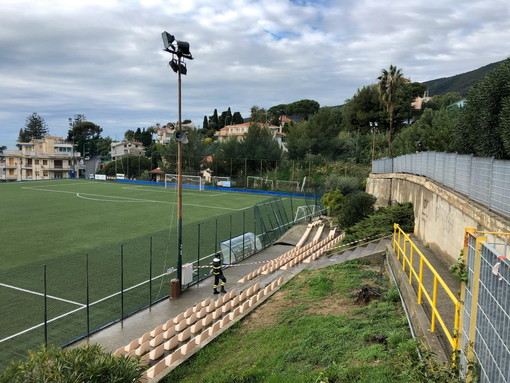 Calcio. Ospedaletti, il campo sarà utilizzabile per gli allenamenti ma non per le partite