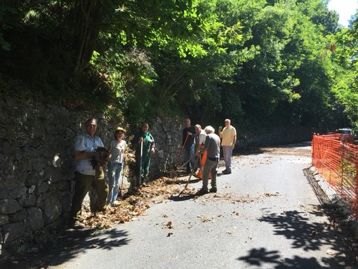 Molini di Triora: alle strade della valle Argentina ci pensano gli abitanti, nuovo intervento per ripulire i lati della carreggiata