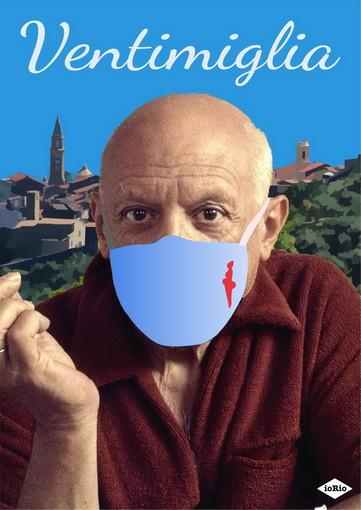 """Picasso a Ventimiglia, il """"lieto evento"""" immortalato da un disegno di Enzo Iorio"""
