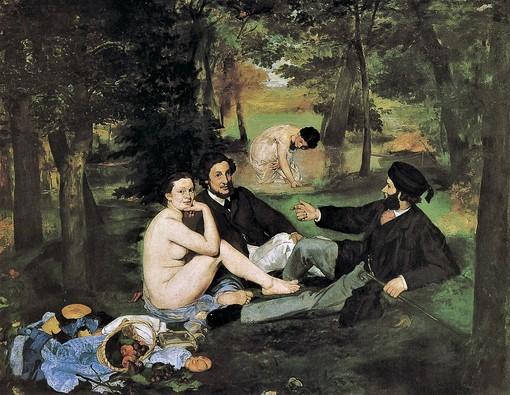Le petite déjeuner sur l'herbe  di Édouard Manet (1863) conservato al museo d'Orsay di Parigi.