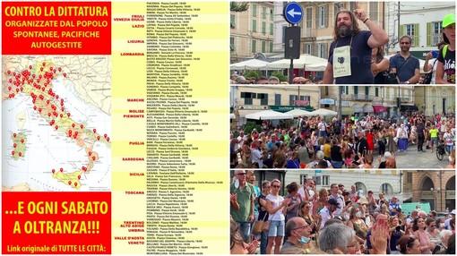 Sabato a Sanremo e Imperia nuova protesta 'Basta Dittatura' contro l'obbligo del green pass