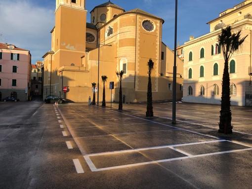 Imperia, terminato il restyling di piazza Goito: sabato prossimo probabile il 'ritorno' del mercato (Foto)