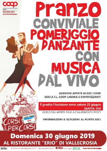 Ventimiglia: domenica 30 il pranzo organizzato dalla sezione soci della Coop