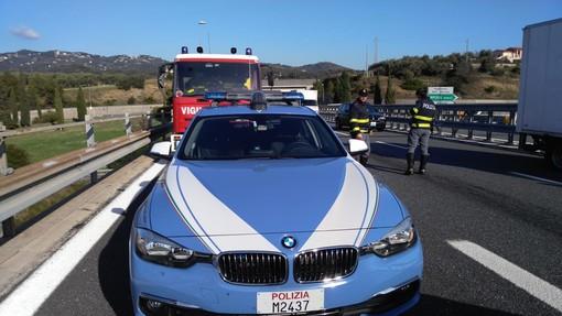 Taggia: incidente sull'Autostrada dei Fiori in direzione Genova, un ferito lieve ma lunghe code (Foto)