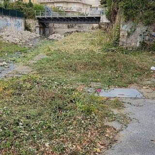 Sanremo: lettore denuncia intervento di pulizia 'a metà' sul torrente San Martino