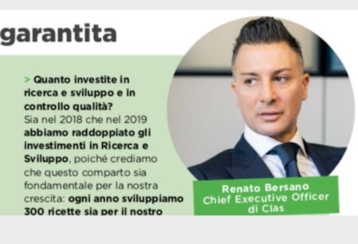 La Clas, guidata dall'amministratore delegato Renato Bersano, si conferma leader nel settore anche per la rivista internazionale 'Food'
