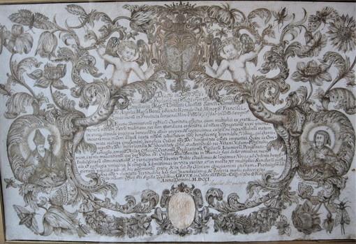 Documento redatto nel 1701 dai Padri Cappuccini e conservato nella canonica di San Siro