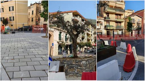 Taggia: ecco la nuova piazza Garibaldi, in settimana la fine del restyling iniziato nel 2019
